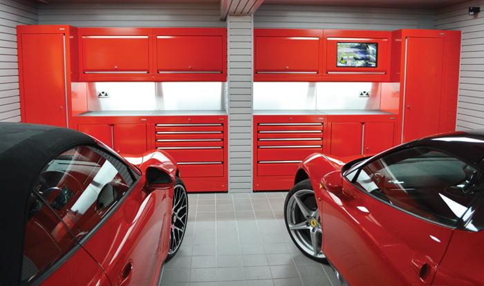 Ferrari enthusiast gets beautiful Ferrari themed Garage