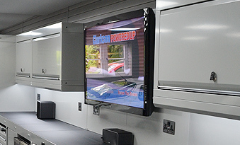 Integrated TV in garage