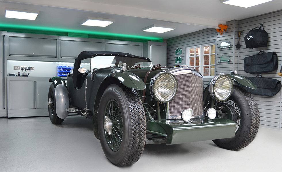 Dura cabinets and wall storage of classic Bentley owner