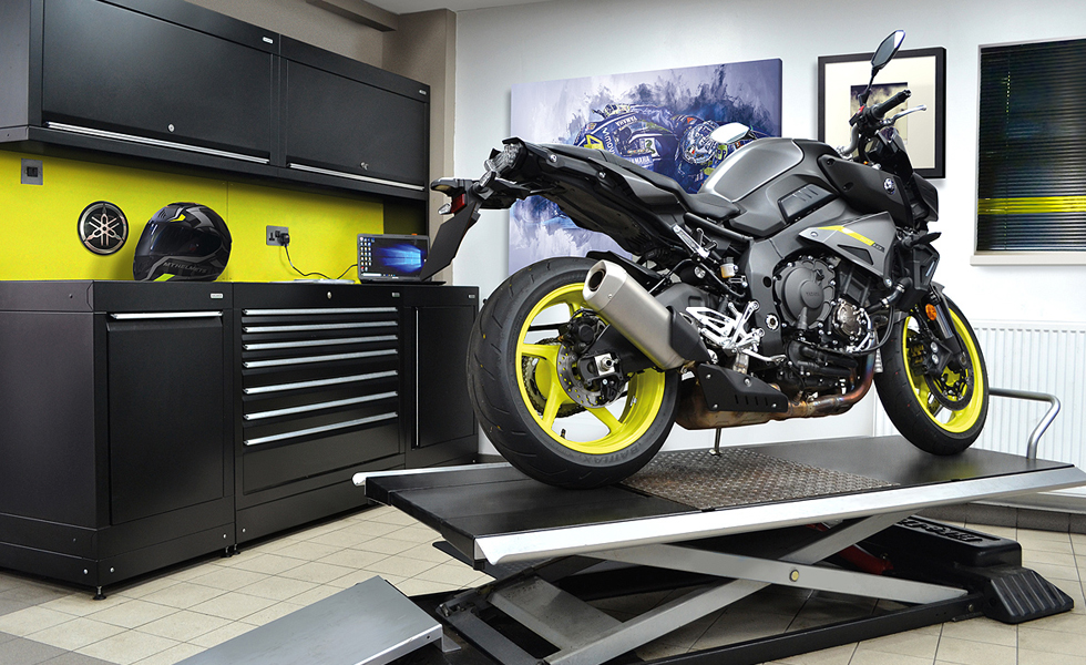 Dura workshop cabinets for Yamaha motorcycle owner