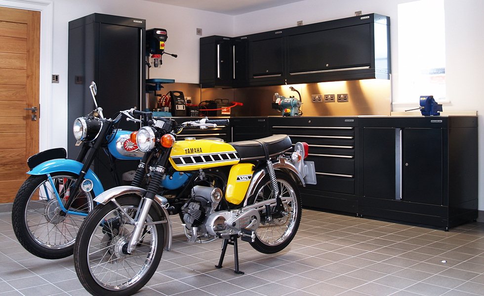 Dura workshop cabinets for classic motorcycle owner