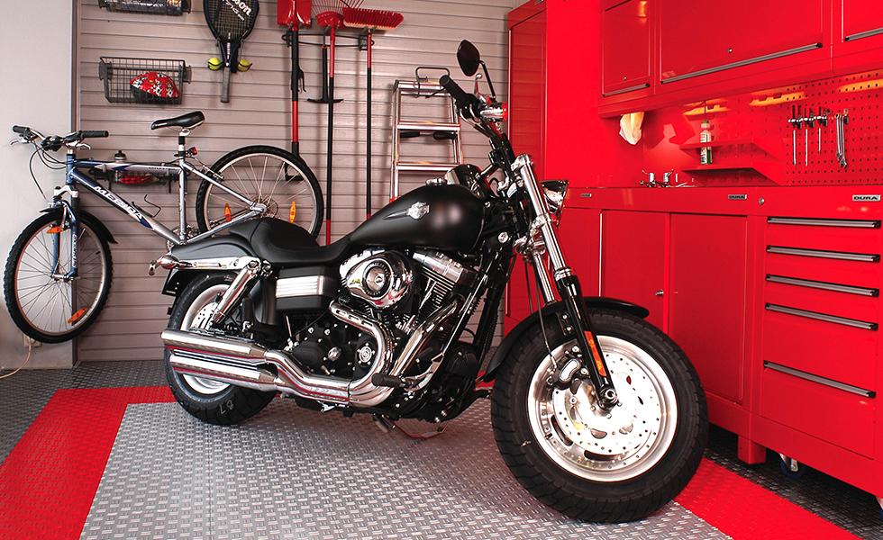 Dura workshop cabinets for Harley Davidson motorcycle owner