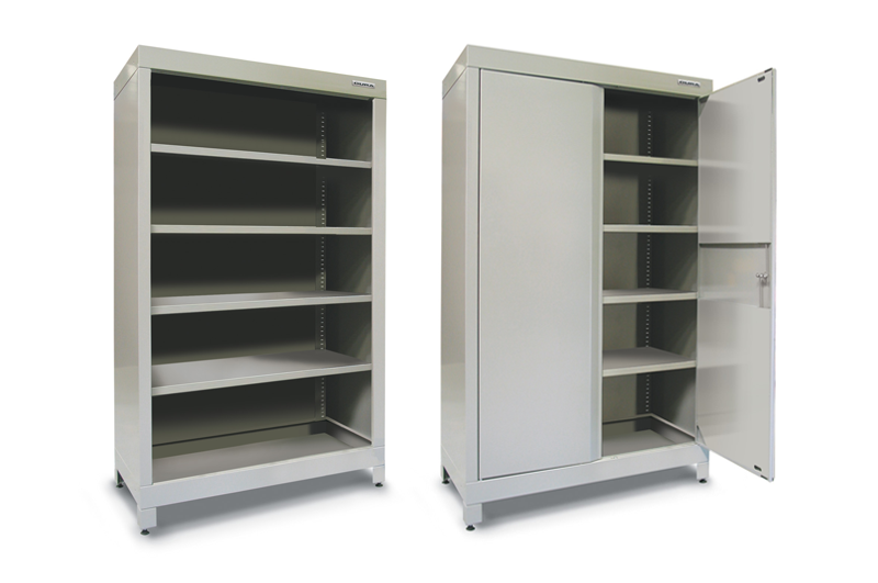 Heavy Duty Shelf Units Can Be Supplied With Or Without Doors, Depending On  Your Storage Needs.