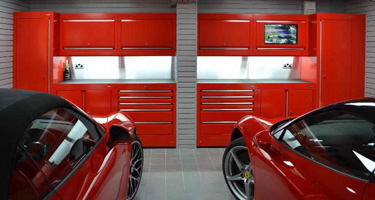 Garage furniture storage cabinets garage flooring by for Garage interior designs uk