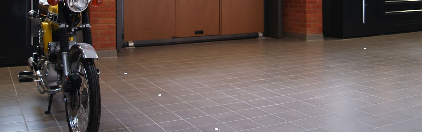 Garage tile flooring