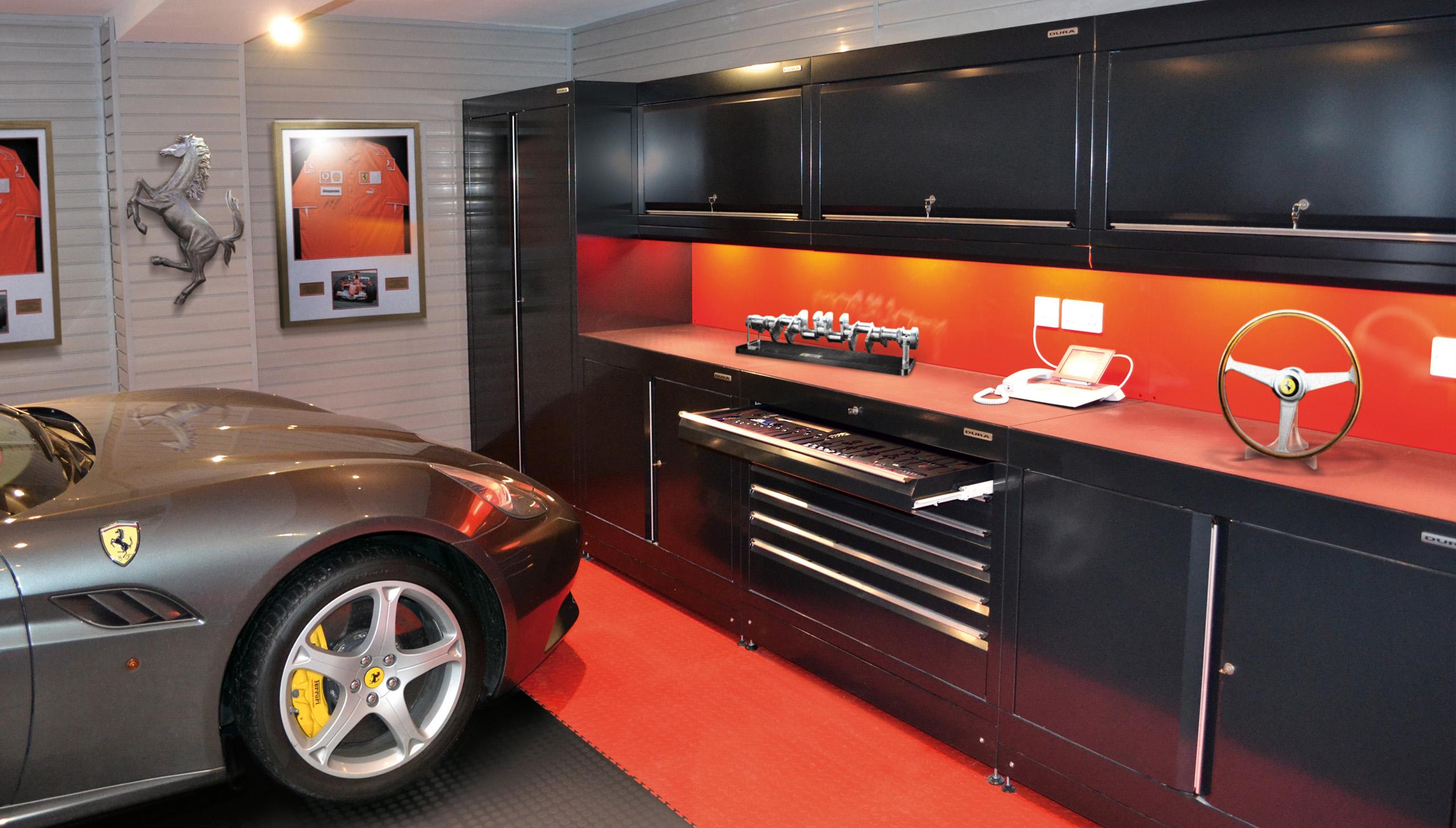 home workshops car themed garages from dura garages